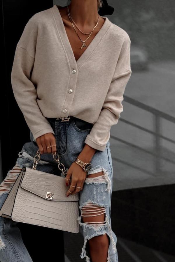 Sweter sempre mocca