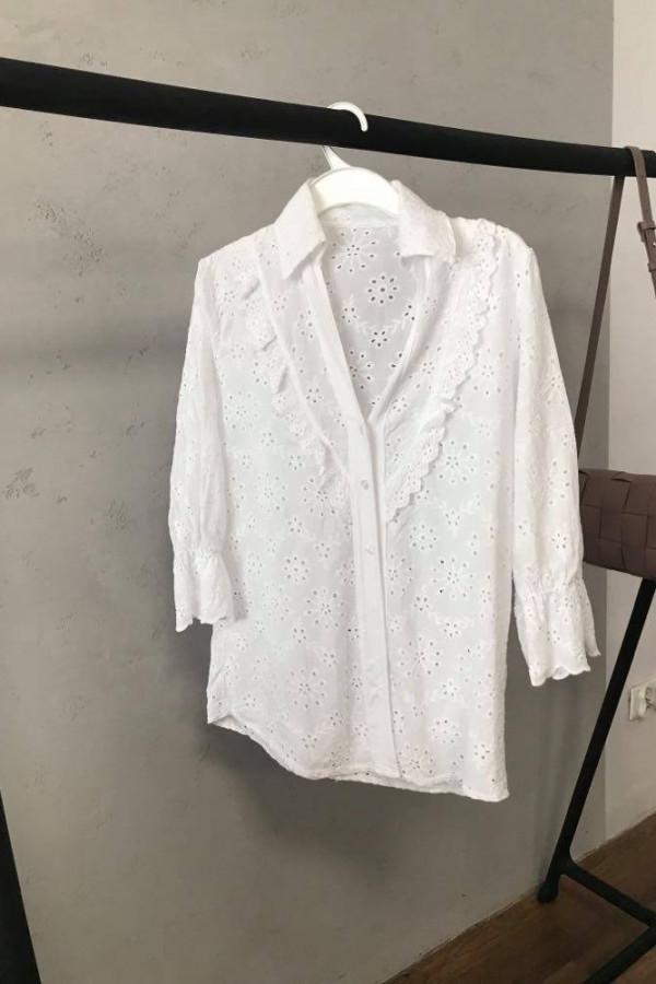 biała koszula haft