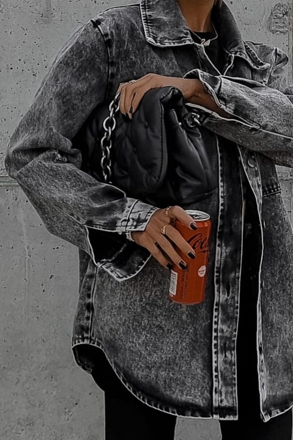 Jeansowa koszula dark gray