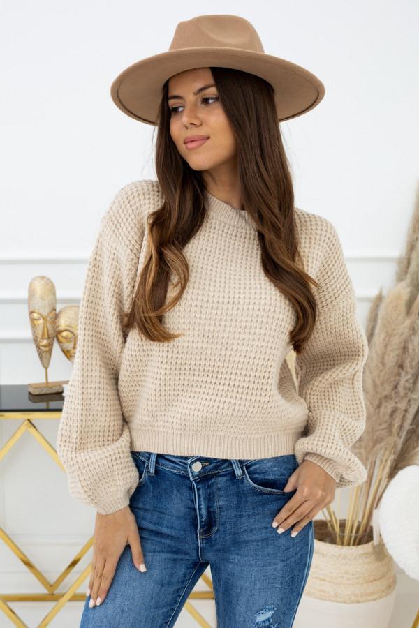 Sweter Indeks mcy02963 BEŻ