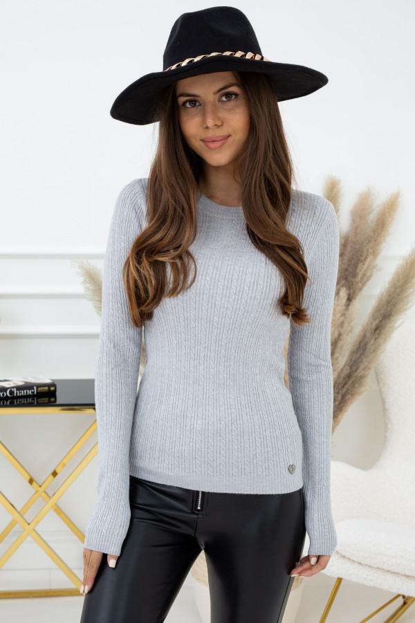 Sweter Indeks YB94520 SZARY