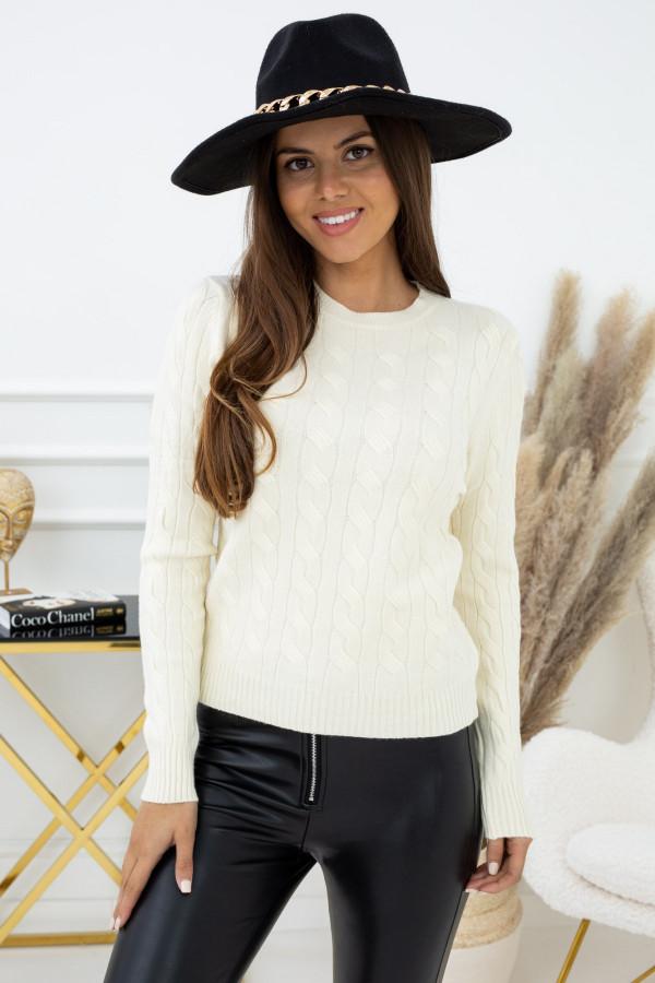 Sweter Indeks NJ94440a ZŁAMANA BIEL