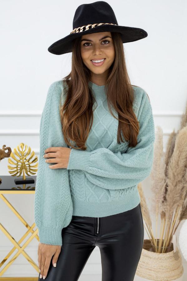 Sweter Indeks QC93014 ZIELONY