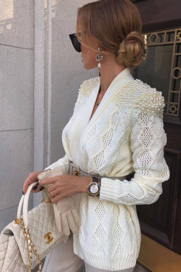 SWETER PEARLAGE WHITE